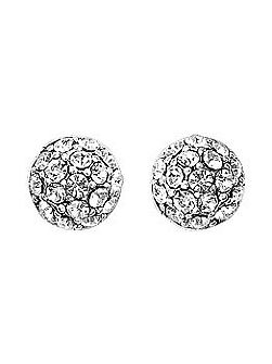 Silver plated classic crystal earrings