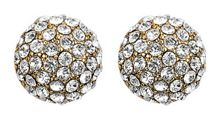 Earring gold plated crystal