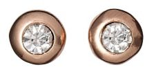 Earrings rose gold plated crystal