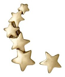Pilgrim Gold plated star earrings