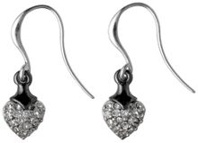 Earrings silver plated crystal
