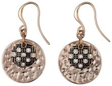 rose gold plated crystal earrings