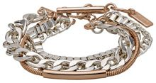 Rose gold and silver plated bracelet