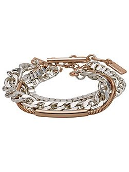 Pilgrim Rose gold and silver plated bracelet