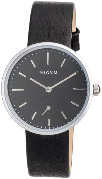 Pilgrim Silver plated with black watch