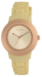 Pilgrim Rose Gold Colour & Yellow Watch