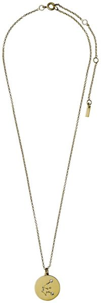 Pilgrim Aquarius Crystal Gold Plated Necklace