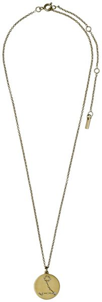 Pilgrim Pisces Crystal Gold Plated Necklace