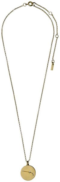Pilgrim Aries Crystal Gold Plated Necklace