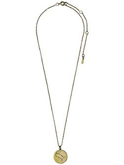 Gemini Crystal Gold Plated Necklace