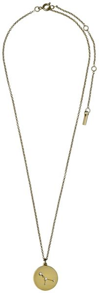 Pilgrim Cancer Crystal Gold Plated Necklace