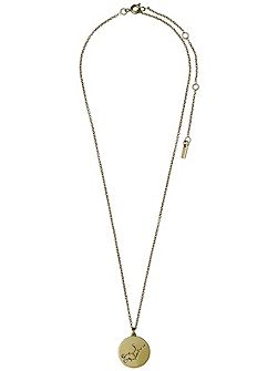 Virgo Crystal Gold Plated Necklace