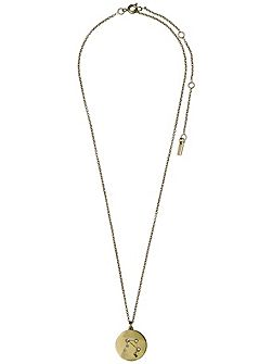 Libra Crystal Gold Plated Necklace