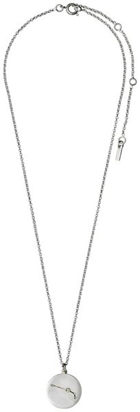 Pilgrim Aries Crystal Silver Plated Necklace