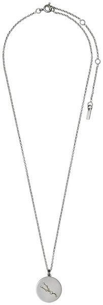 Pilgrim Taurus Crystal Silver Plated Necklace