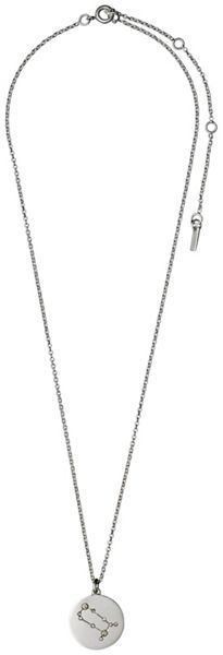 Pilgrim Gemini Crystal Silver Plated Necklace