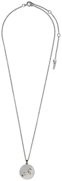 Pilgrim Leo Crystal Silver Plated Necklace
