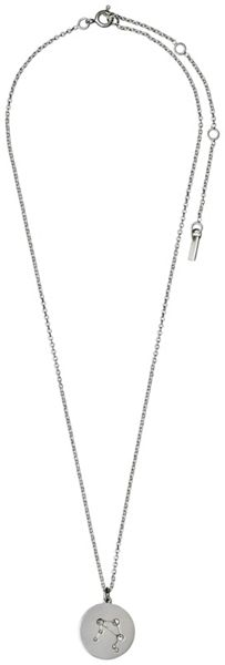 Pilgrim Libra Crystal Silver Plated Necklace