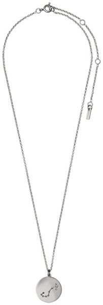 Pilgrim Scorpio Crystal Silver Plated Necklace