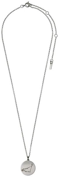 Pilgrim Capricorn Crystal Silver Plated Necklace