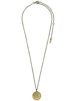 Leo Crystal Gold Plated Necklace