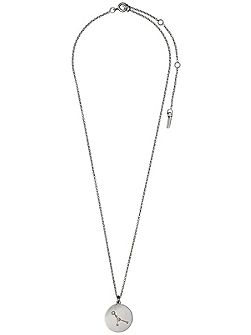 Cancer Crystal Silver Plated Necklace