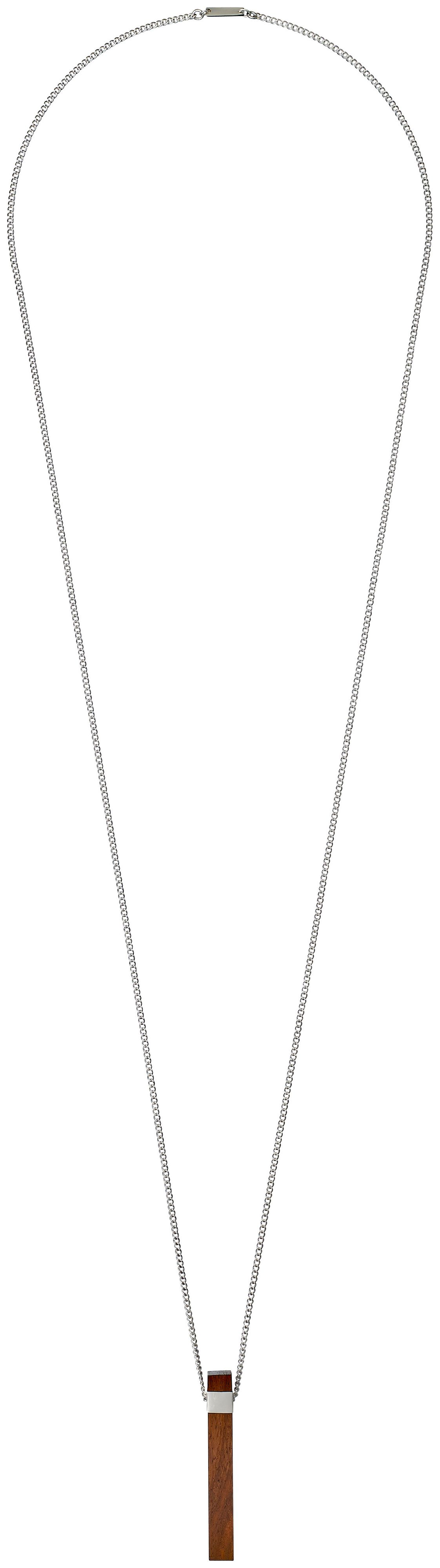 Pilgrim Brown and silver plated necklace NA