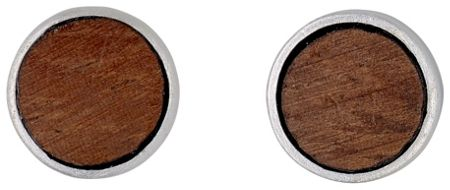 Pilgrim Brown and silver plated earrings