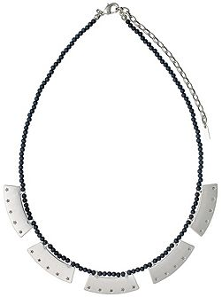 Silver colour with grey necklace