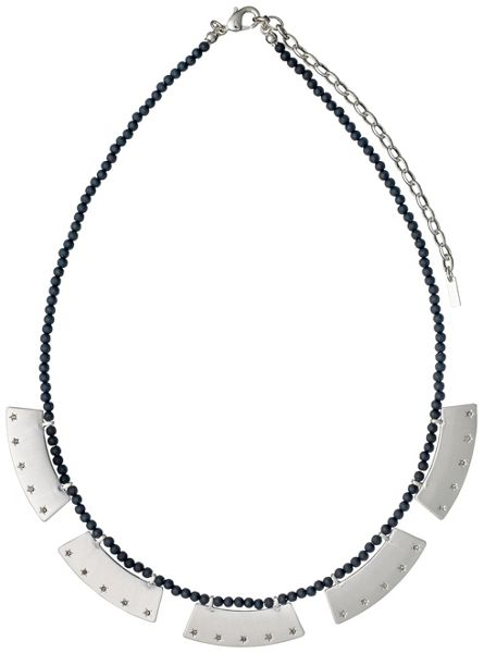 Pilgrim Silver colour with grey necklace