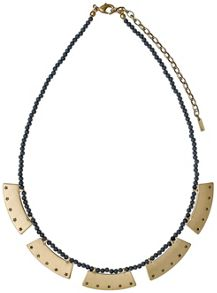 Pilgrim Grey and gold colour necklace