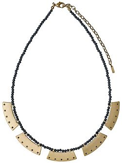 Grey and gold colour necklace