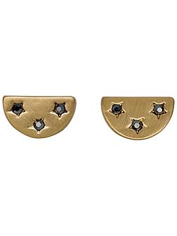 Gold colour with grey earrings