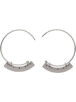 Silver Colour Creole Hoop Earrings