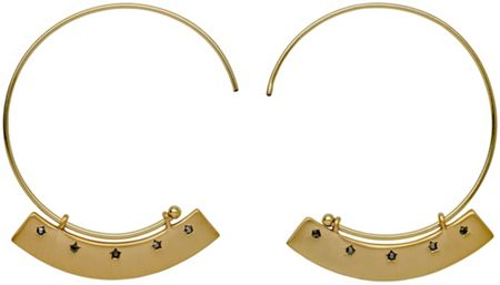 Pilgrim Gold colour with grey earrings