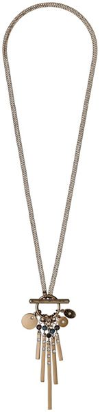 Pilgrim Grey and rose gold colour necklace