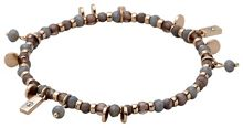 Pilgrim Grey and rose gold colour bracelet