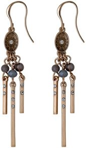 Pilgrim Grey and rose gold colour earrings