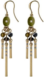 Pilgrim Green and gold colour earrings