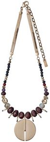 Pilgrim Brown and rose gold colour necklace