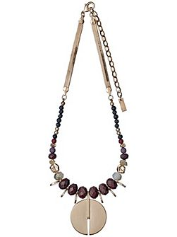 Brown and rose gold colour necklace