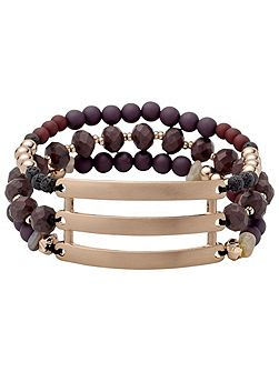 Brown and rose gold colour bracelet