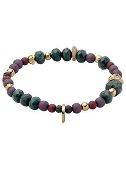 Green and gold colour bracelet
