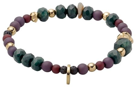 Pilgrim Green and gold colour bracelet