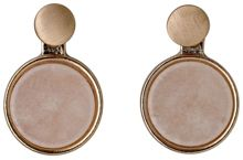 Pilgrim Rose gold colour 2 in 1 earrings