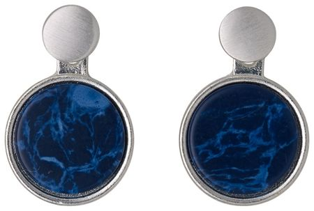 Pilgrim Blue and silver plated 2 in 1 earrings