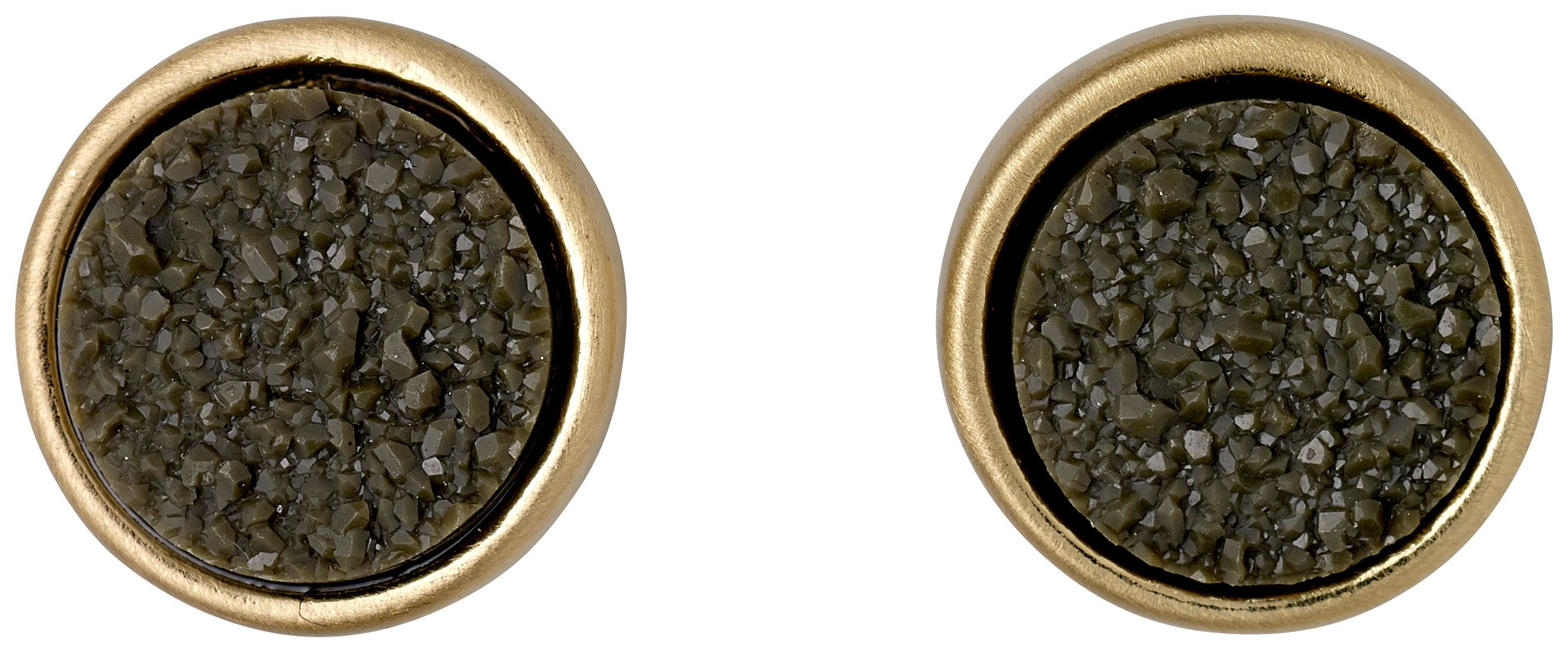 pilgrim green and gold plated earrings