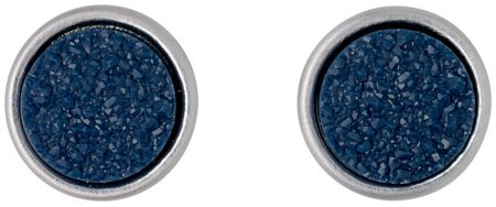Pilgrim Blue and silver plated earrings