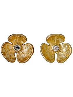 Gold plated with crystals earrings