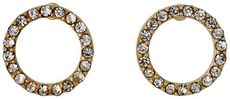 Pilgrim Gold plated with crystals earrings